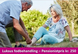 fodbehandling pensionistpris